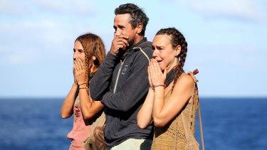 El, Lee and Kristie faced with the final Australian Survivor challenge.