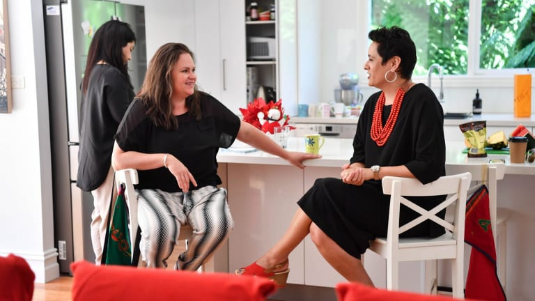 Beth Richards and Justine Teggelove at a Business Chicks Power Players meeting.