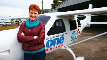 There is controversy over who paid for an aircraft that allowed Pauline Hanson to reboot her political career.
