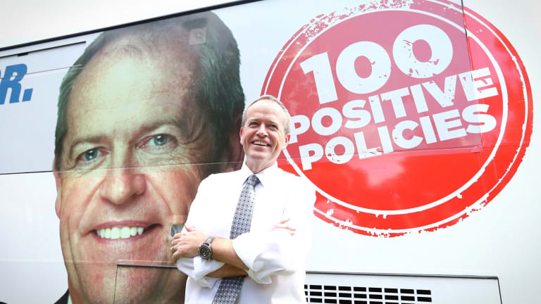 Bill Shorten during the 2016 election campaign.