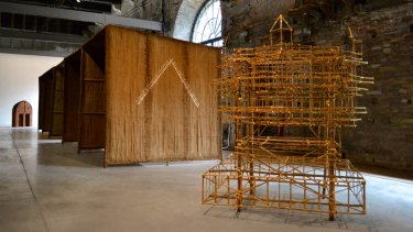 Studio Mumbai's 2016 Venice architecture biennale installation made from bamboo and lime hints at the M Pavilion design by Bijoy Jain.
