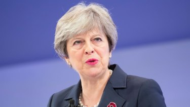Struggling to maintain her authority: British Prime Minister Theresa May.