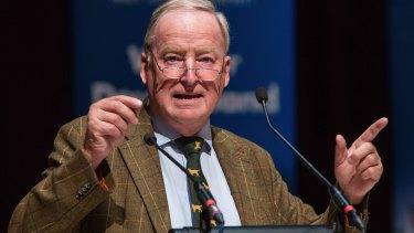 Alternative for Germany vice-chairman Alexander Gauland speaks in Nuremberg.