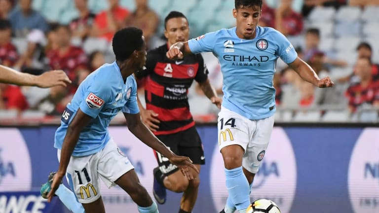 Whiz fizz: Teen sensation Daniel Arzani provided the spark that helped his City side claim a narrow win over Phoenix.