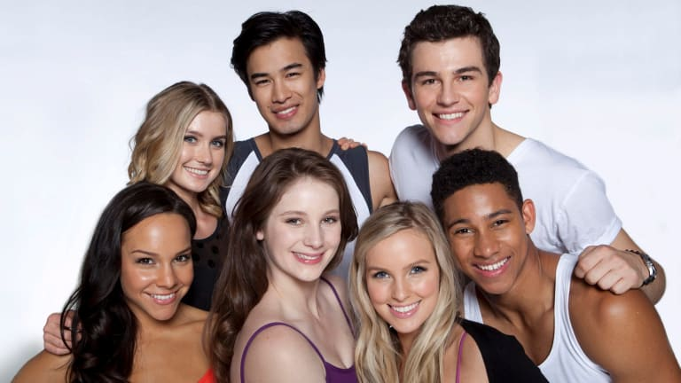 The <i>Dance Academy</i> cast in the hit TV show.