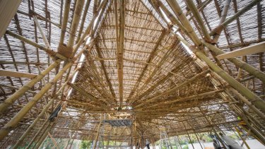 The ceiling of Bijoy Jain's hand-crafted MPavilion.