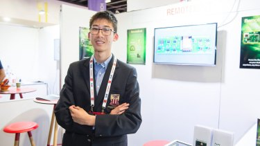 Ben Wang juggles school with a bustling tech trade.