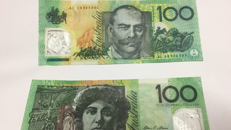 The dodgy $100 notes.