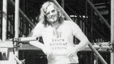 Peter Evans at Sunbury in 1974.