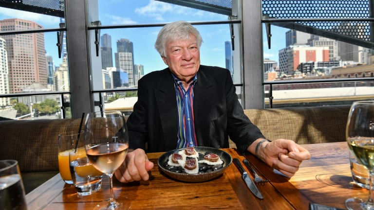 Human rights lawyer Geoffrey Robertson at Taxi restaurant.