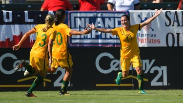 De Vanna became the highest goalscorer in Matildas history after netting twice in their 6-1 thrashing of Brazil as the Australian side clinched its first piece of silverware in seven years.