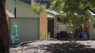 The house in Gordon where a mother of three was found with critical head injuries and stab wounds on Tuesday.