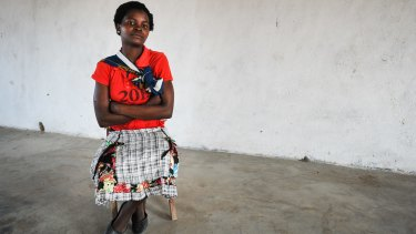 Agnes Mposwa,15, was married at the age of 14 and has a new baby.