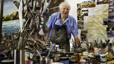 Jan Senbergs has explored a variety of subjects and mediums in more than 50 years as an artist.