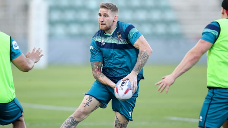 Intelligent: Wigan player Sam Tomkins trains at WIN stadium in Wollongong before the match against Hull.