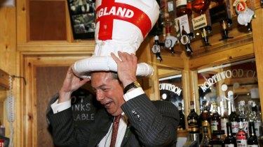 United Kingdom Independence Party (UKIP)  leader Nigel Farage.