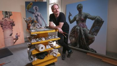 Matthew Quick at his Abbotsford Convent studio.