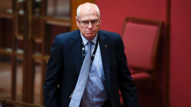 Jim Molan in the Senate on Wednesday.