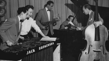Jack Brokensha, Edwin Duff, Errol Buddle, Ron Loughead and Kenny Lester in 1949.