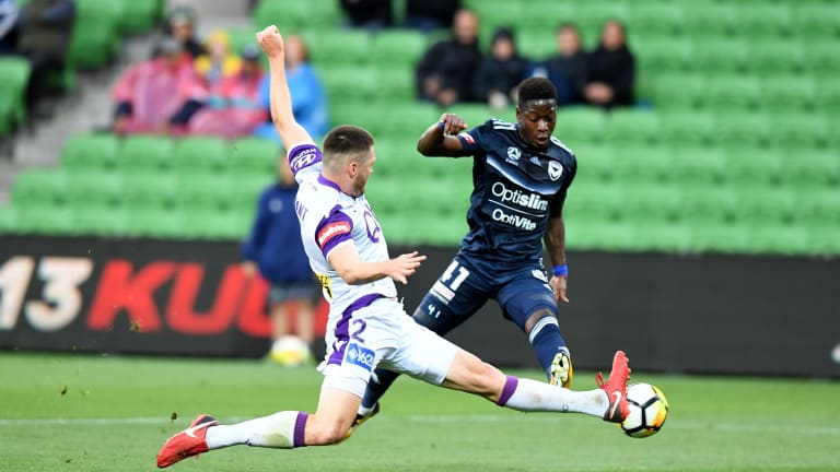 Melbourne Victory's Leroy George starred against Perth Glory.