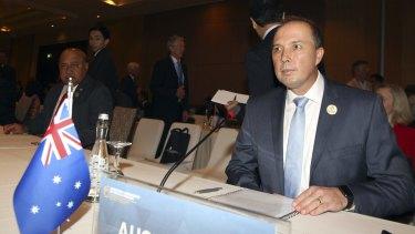Australia Immigration Minister Peter Dutton