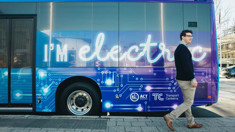 One of the ACT's electric buses.