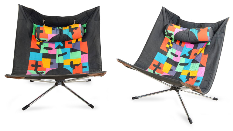 Alberto Salviati 'Miamina' folding chairs for Saporiti, $1500-2500.