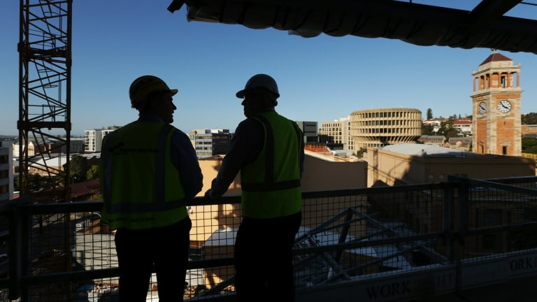 Construction underway in Newcastle, one of a number of Australian regional cities growing in economic importance.