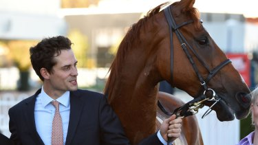 """""""I think he is the sort of horse that can win a race or two out here"""": Trainer Matt Cumani on the Australian War Story."""