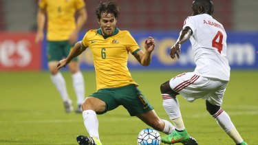 Unlikely solution: Josh Brillante could slot it at right-back against Perth Glory.
