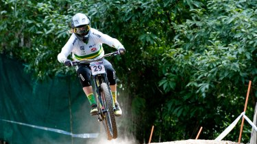 Canberra cyclist Sian A'Hern is the junior world No.1 in downhill.