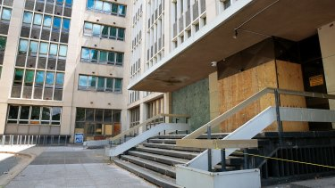 The derelict Anzac Park East building cost $85,000 to upkeep last year.