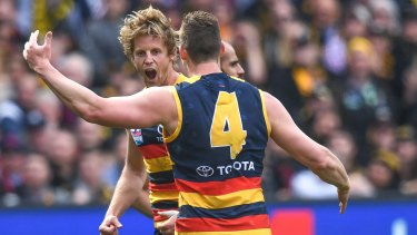 Rory Sloane (pictured) and Hugh Greenwood kept the Crows in front at quarter time.