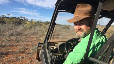 Greg Lawrence, Broken Hill, is one of four landholders who will have turbines on their land when the  200 mW Silverton windfarm  opens next year.