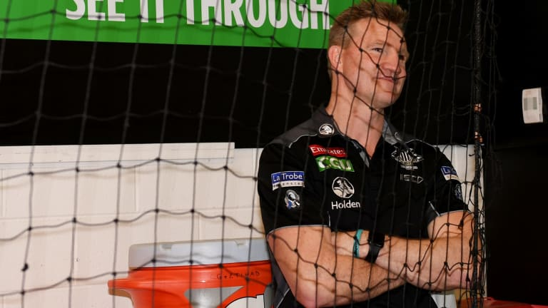 See it through: Nathan Buckley will remain with Collingwood.