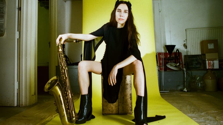 Sax and politics were the sub notes of a mesmerising PJ Harvey in concert.