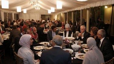 Mr Turnbull and guests at Kirribilli House.