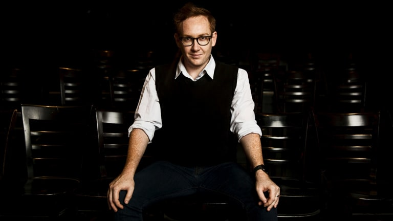 Jay James-Moody is the artistic director of theatre company Squabbalogic, which is relaunching with the dark comedy Herringbone.