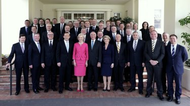 Tony Abbott's first ministry in 2013.