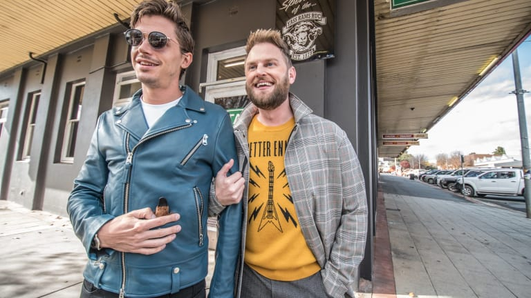 <I>Queer Eye</I> duo Antoni Porowski, left, and Bobby Berk are making over the Clubhouse hotel in Yass.