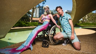 Cormick will be wheeled around the Art Not Apart festival by partner Christopher Samuel Carroll.