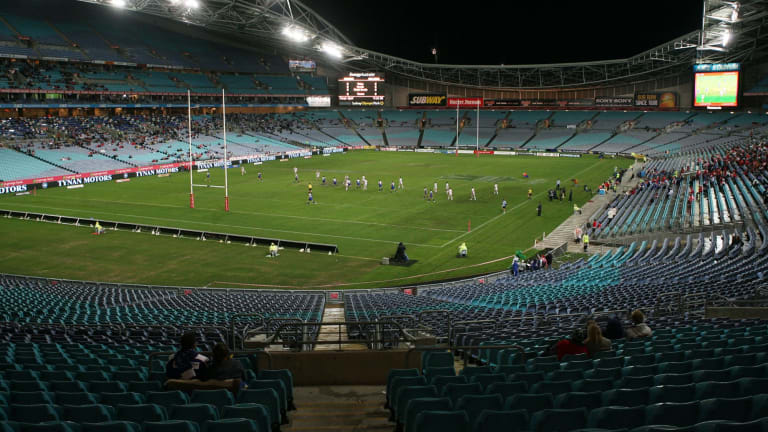 Familiar sight: A sparsely populated ANZ Stadium.