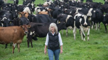 "The price cut is ""a big kick in the guts"" says dairy farmer Kate Lamb."
