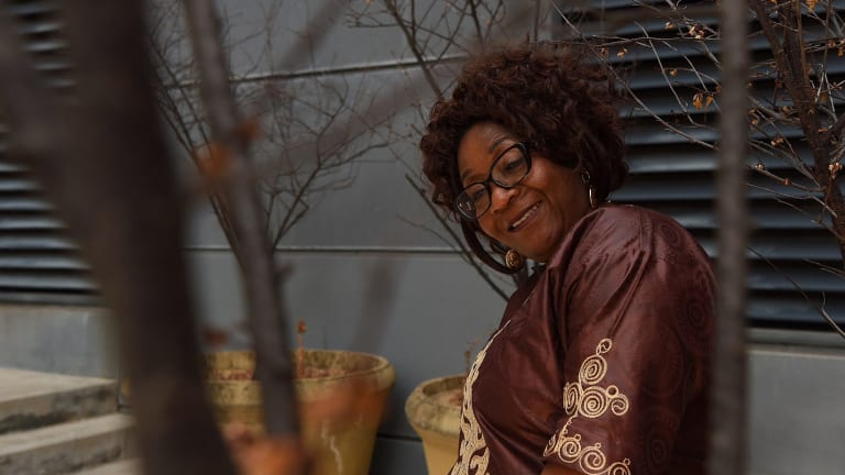 Nava Ozegbe has started her own clothing and food business, MamaNavaShop, and hopes she can help refugee women with employment.