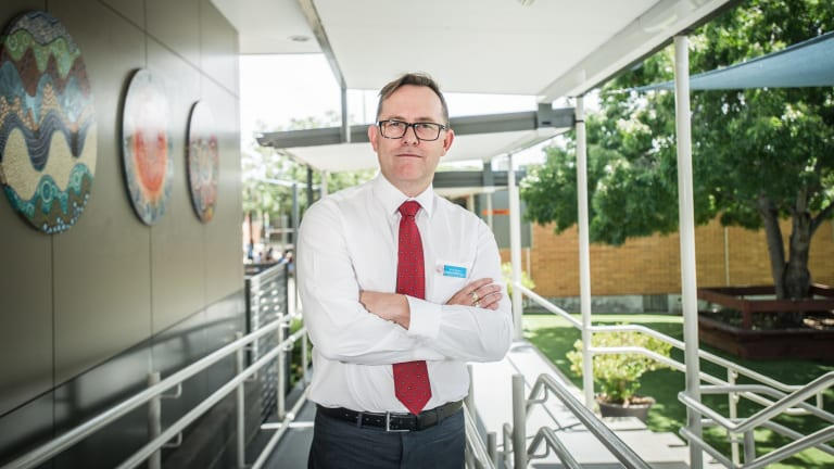 Brad Gaynor, Principal of Holy Spirit Primary and head of Catholic Principals Association speaks about a report showing principals are very stressed, under threat of violence.