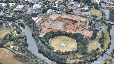 The new Western Sydney Stadium at Parramatta.