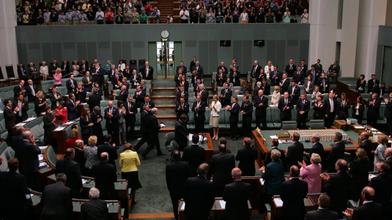 A crowded House of Representatives during the official apology to the stolen generations.