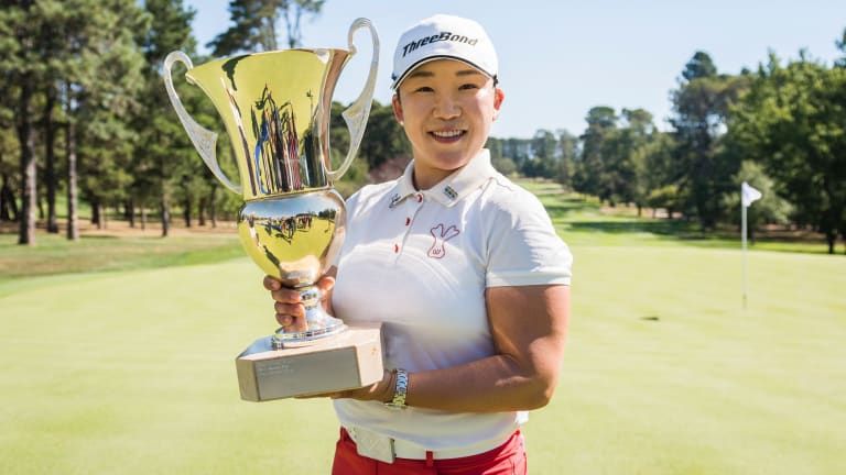 Jiyai Shin stormed home to win the Canberra Classic at Royal Canberra on Sunday.
