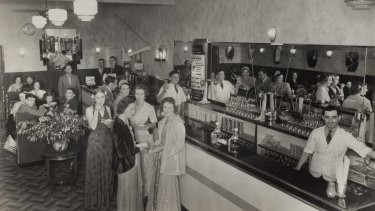 Newcastle's Victoria Cafe in the 1930s.
