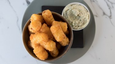 Spiced potato gems come with a Mexican ranch dressing.